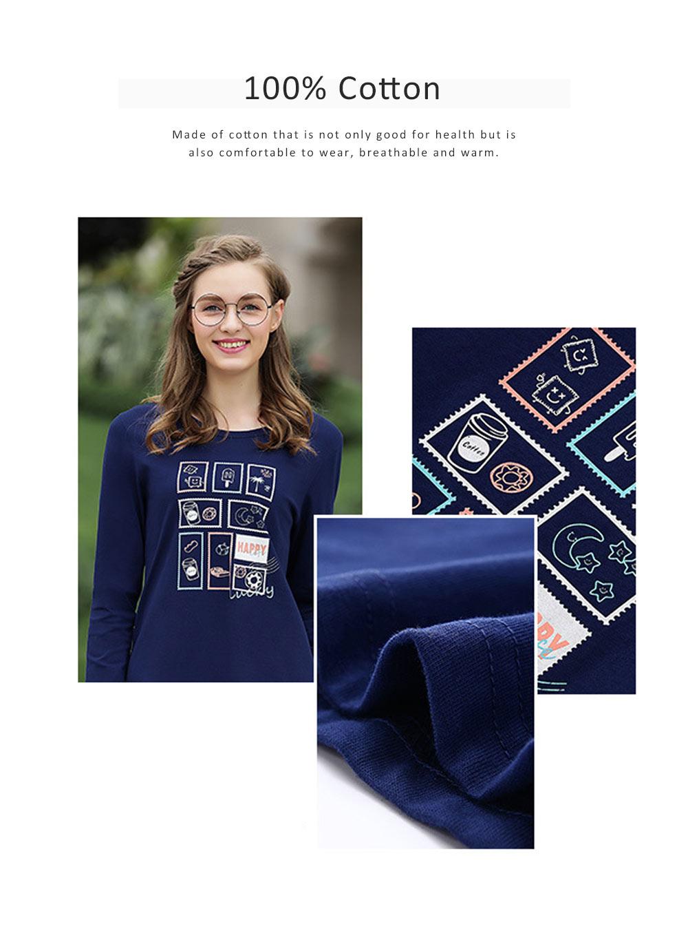 Pajamas Set for Couple, Long Sleeve Pajama for Autumn and Winter, 100% Cotton Homewear Set, Simple Designed Sleepwear Set 1