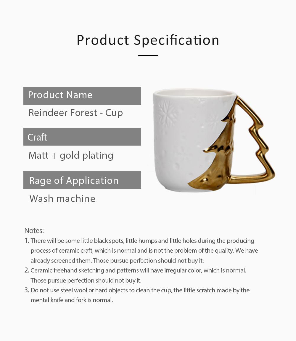 Ceramic Mug Cup with Glaze for Tea, Milk, Coffee, Water, Decoration Cup for Christmas, Festivals, Cartoon Water Mug 6