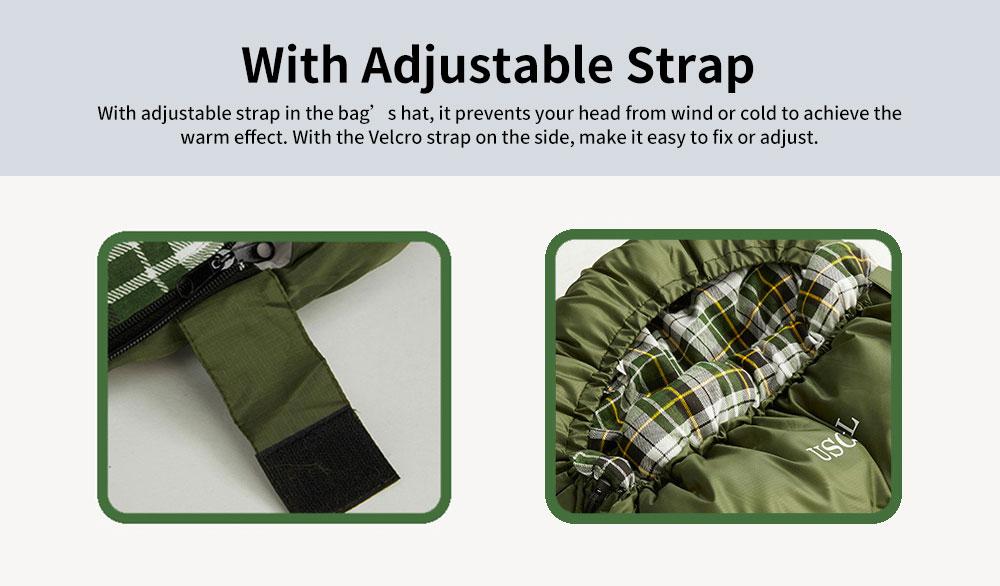 Outdoor Waterproof Sleeping Bag, Lightweight Flannel Warm Sleeping Bag for Travel 4 Seasons 5