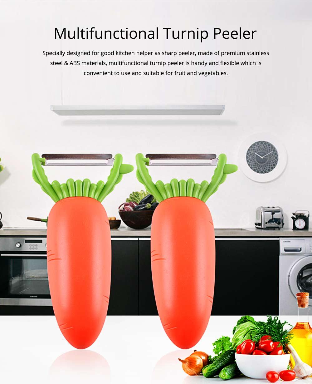 Multifunctional Turnip Peeler Fruit Potato Peeler, Stainless Steel Peeler with Beer Bottle Opener, Kitchen Cut Tools 0