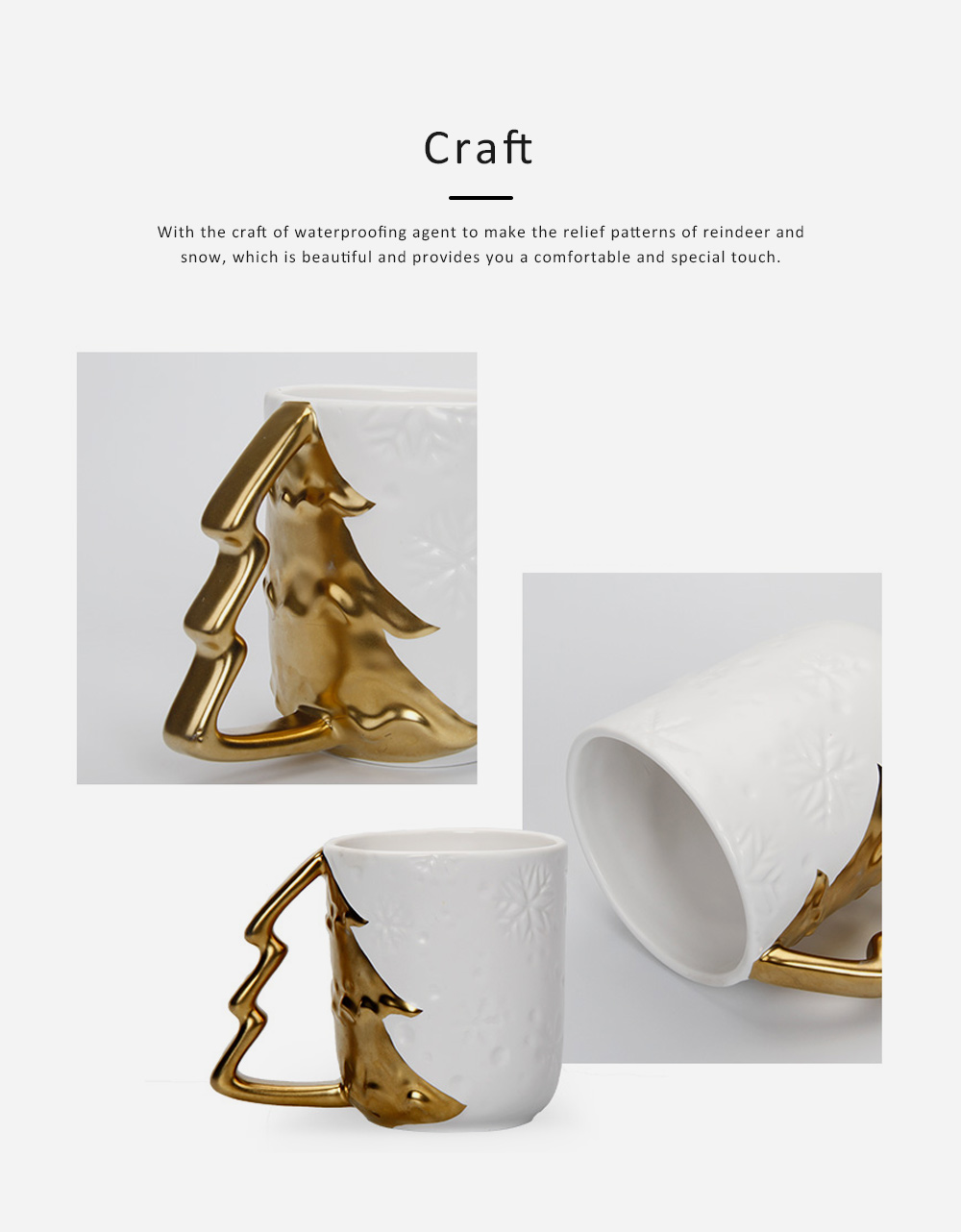 Ceramic Mug Cup with Glaze for Tea, Milk, Coffee, Water, Decoration Cup for Christmas, Festivals, Cartoon Water Mug 2