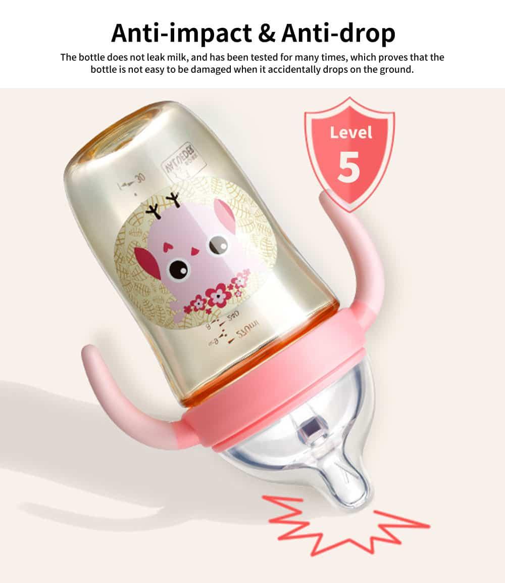 Newborn PPSU Milk Bottle, Wide Diameter Baby Weaning Device, 180ml Anti-flatulence Baby Milk Bottle 4