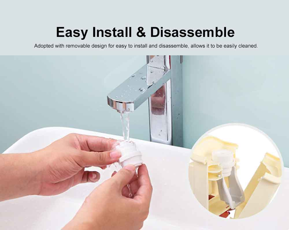 Self-driven Toothpaste Dispenser Lovely Automatic Squeezer Set Anti-dust Stylish Toothbrush Shelf Wall-mounted Storage Shelf No Drilling in Bathrooms 4