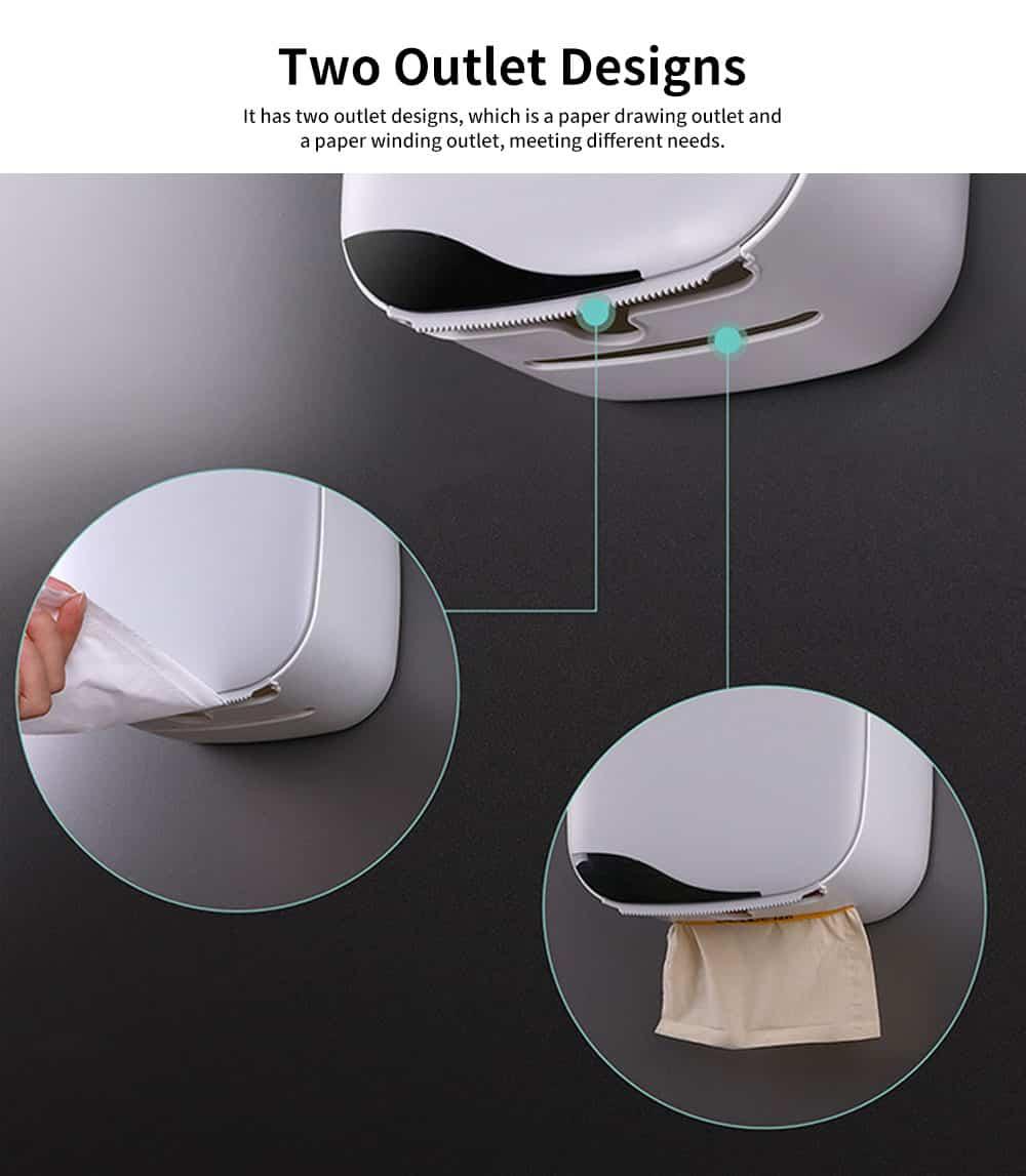 Bathroom Tissue Box, Punch-free Roll Paper Storage Box, with Convenient Type Spring Lock Design 3