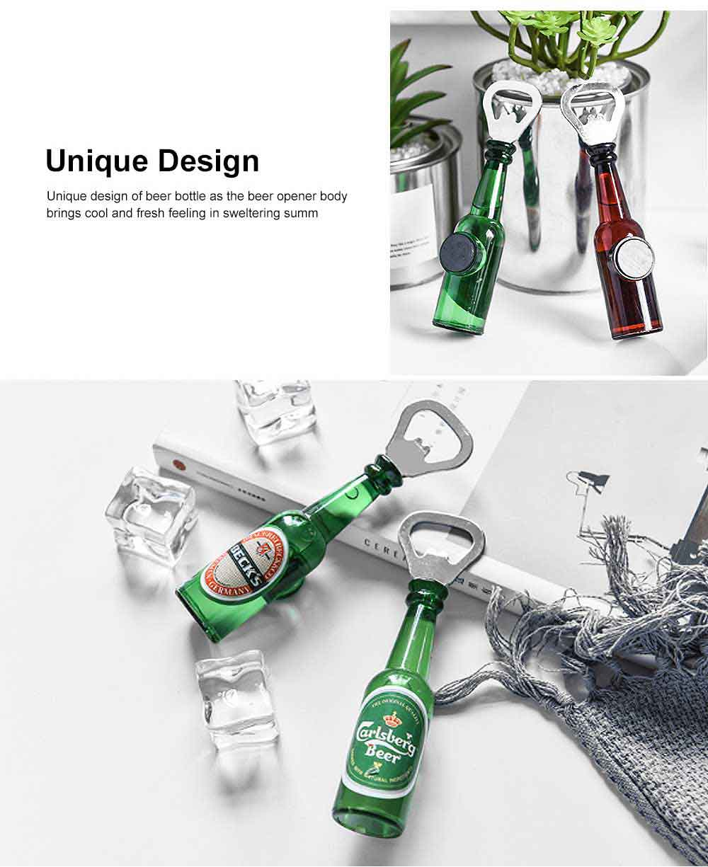 Magnetic Beer Opener with Multiple Functions Stylish Beer Opener Household Accessories American Style Beer Opener 5