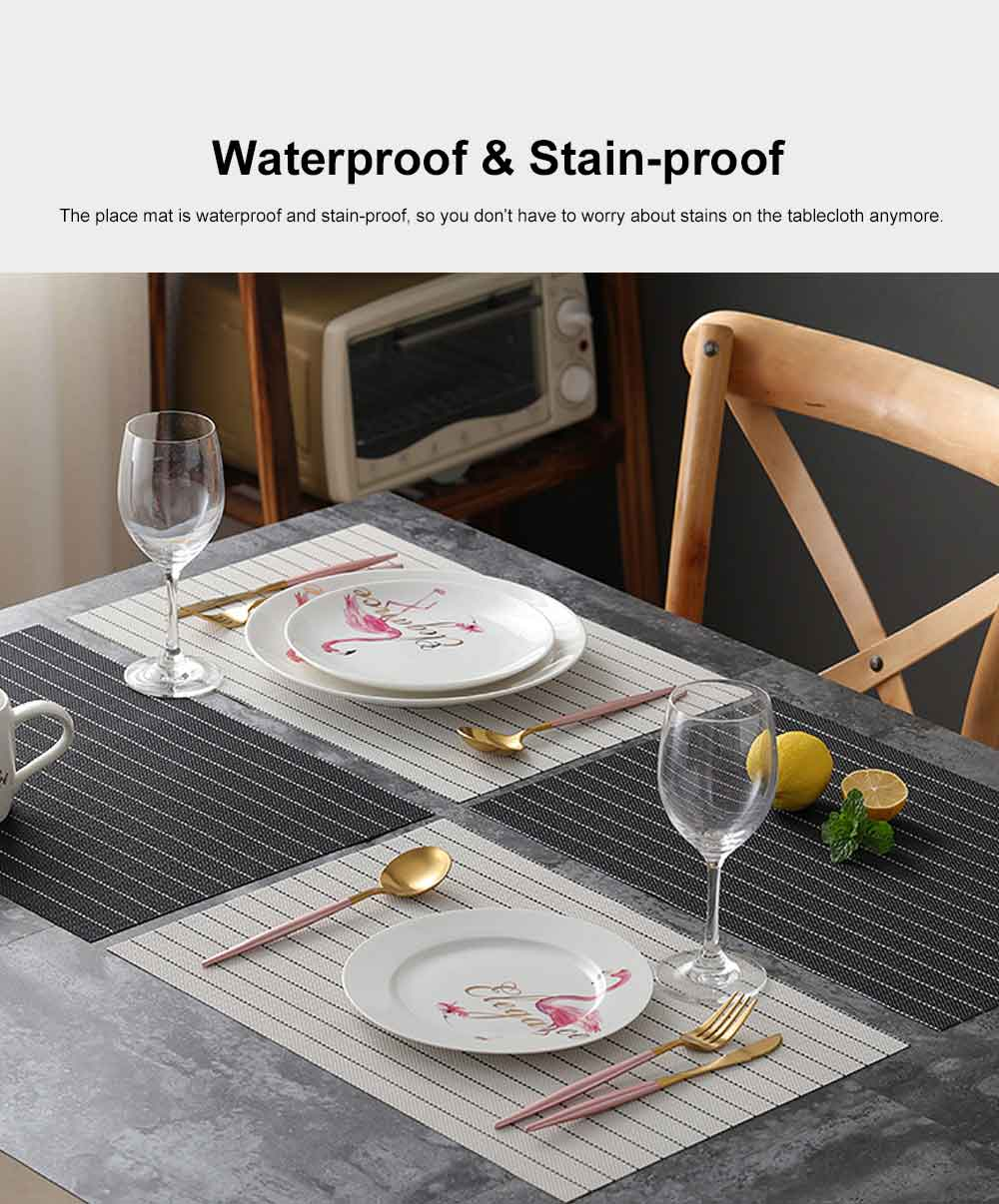 Place Mat PVC Waterproof Thicken Heat Resistant Modern Simple Table Mat European Style Heat Insulation Mat for Household 4