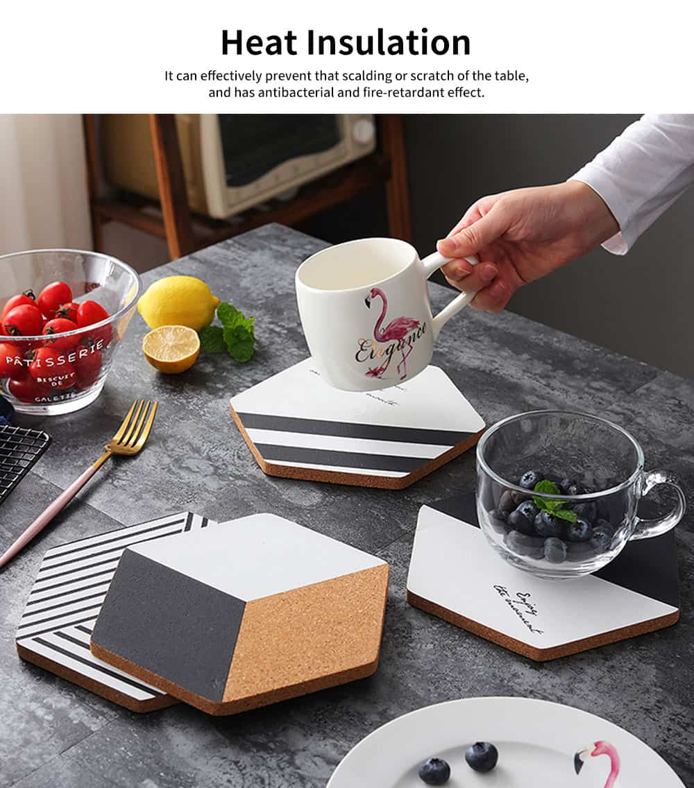 Northern Europe Creative Heat Insulation Mat Pot Holder Cork Mat Heat Resistant Anti-scald for Household Tableware Place Mat 2