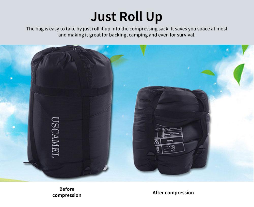 Outdoor Waterproof Sleeping Bag, Lightweight Flannel Warm Sleeping Bag for Travel 4 Seasons 4