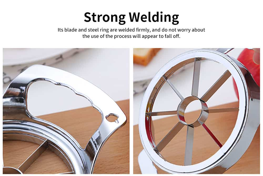 High-quality Thickened Zinc Alloy Cut Fruit Artifact, Apple Slicer, with User-friendly Handle Design 2