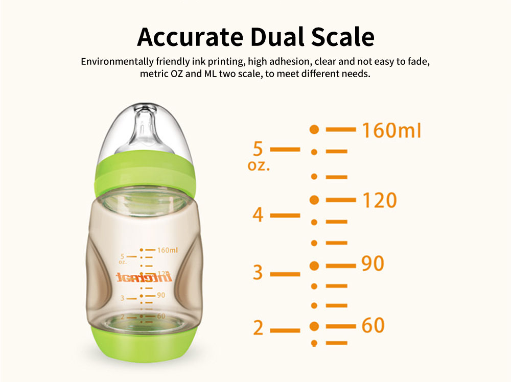 PPSU High Temperature Resistant Newborn Bottles, Anti-Gas Arc Baby Bottles, Wide Caliber Tilting Bottles 5