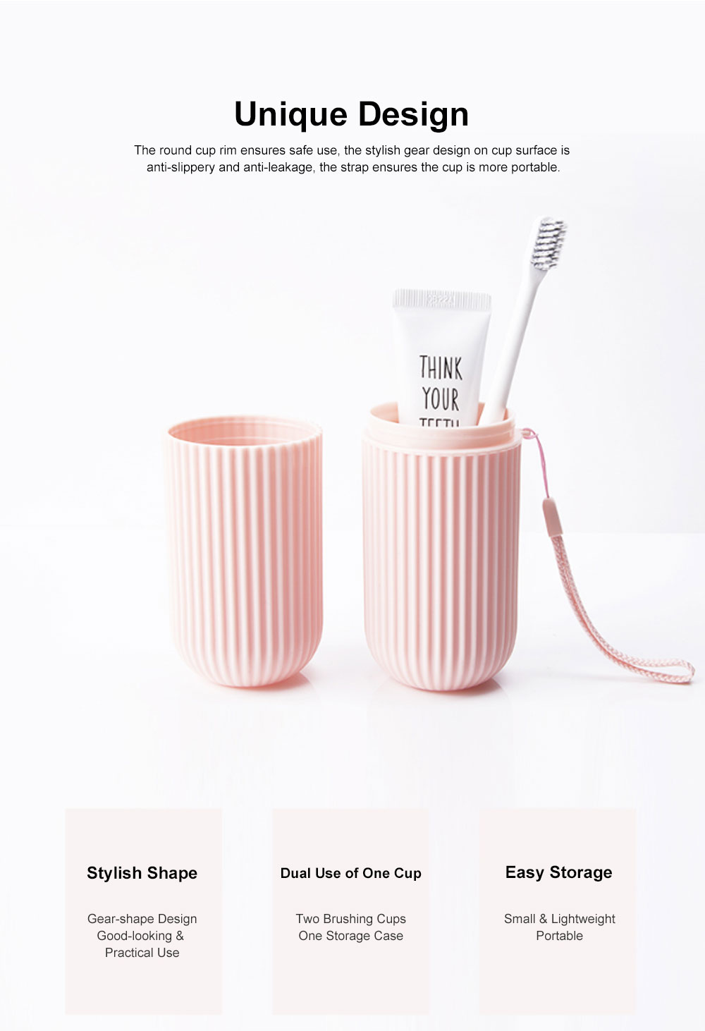 Simple Style Cup for Household or Travel Portable Tooth-brushing Mug Travel Set Couple Cup Household Toothbrush Storage Box 5