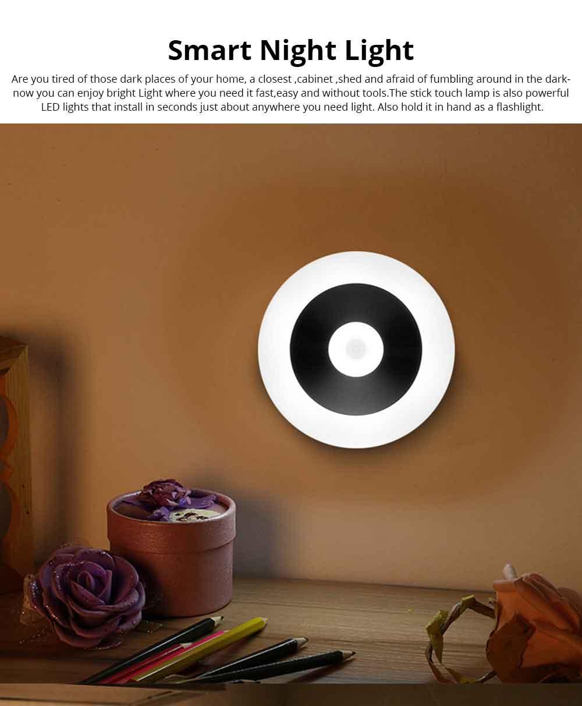 Battery-Powered LED Motion Sensor Night Light Human Induction Touch Sensor LED Cabinet Lights, Magnet Stick-on Closet Light 0