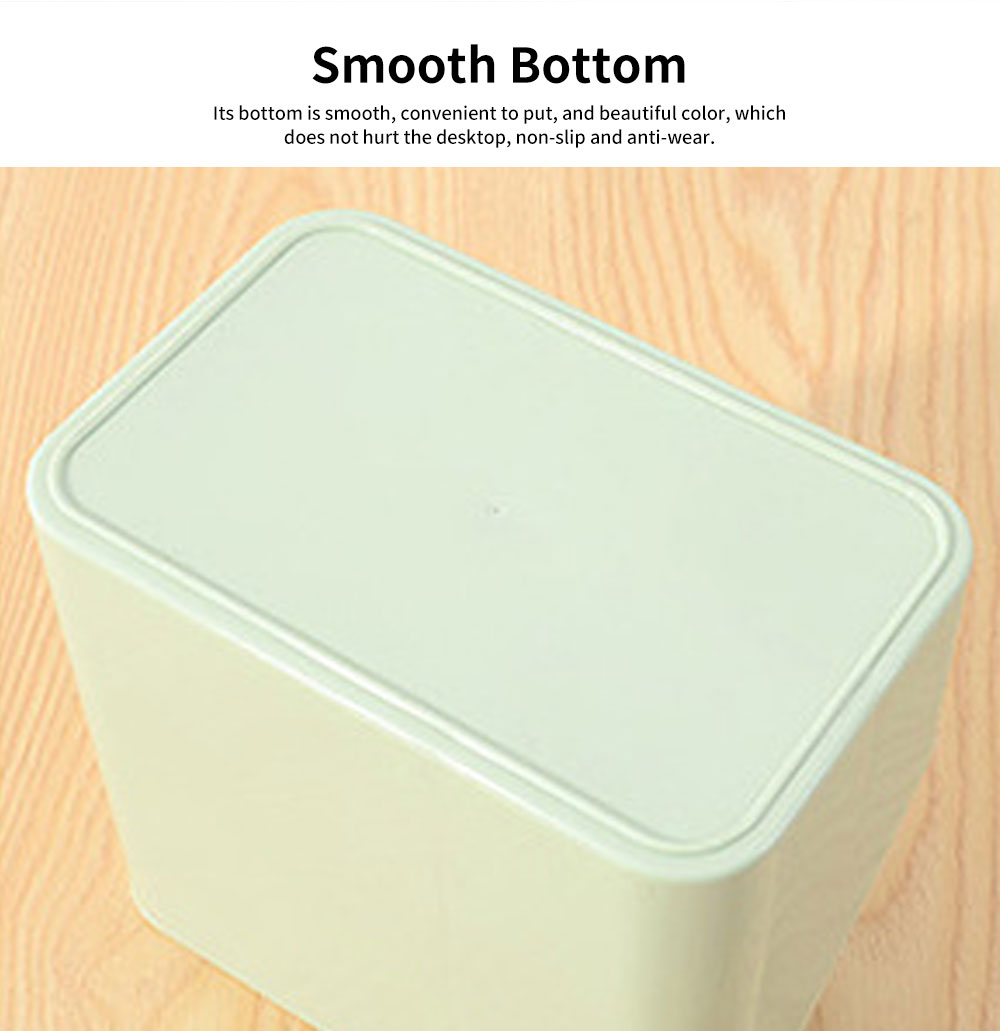 Environmental Protection Storage Tissue Box, Creative Literary Tissue Box, with Elliptical Opening Design 2