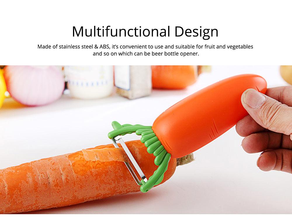 Multifunctional Turnip Peeler Fruit Potato Peeler, Stainless Steel Peeler with Beer Bottle Opener, Kitchen Cut Tools 1