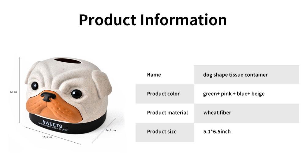 Environment-friendly Wheat Fiber Dog Tissue Box, Multifunctional Desktop Paper Roll Paper Storage Box 6