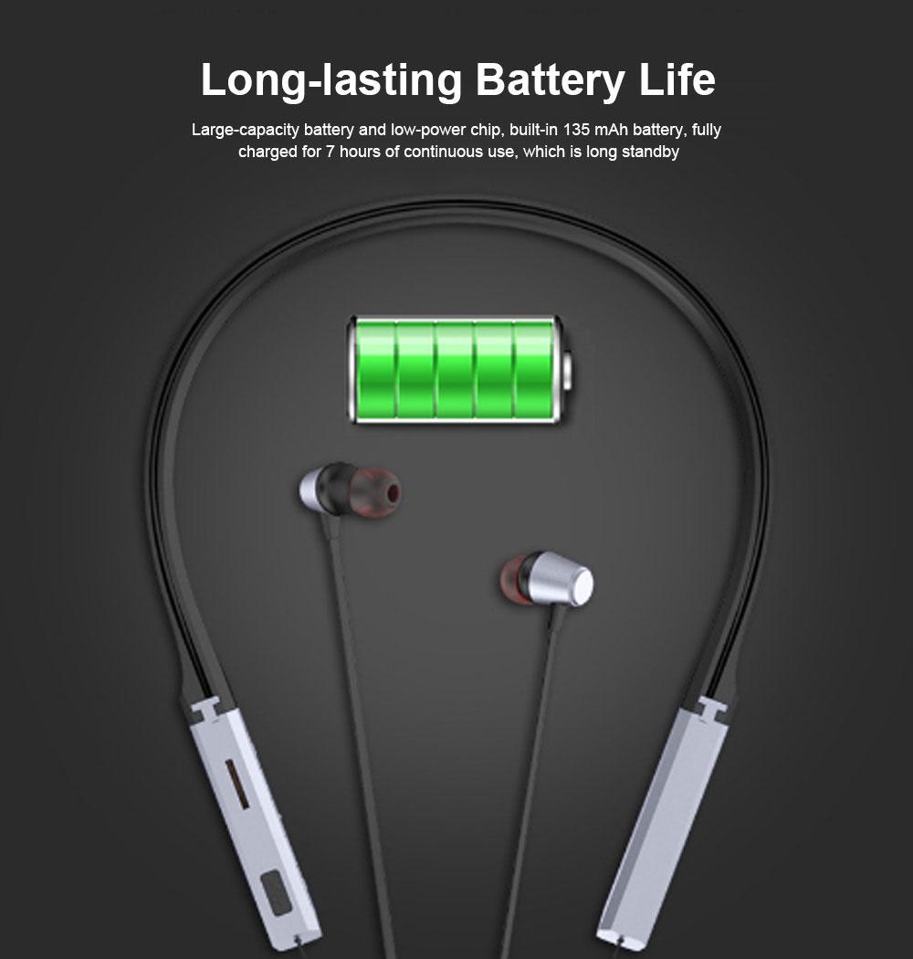 Bluetooth Sports Headphones Wireless Subwoofer Earphone Hanging Ear Headset 2