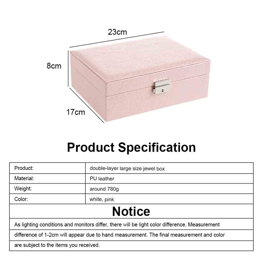 Double-layer Jewel Box for Jewelries of Ear Rings Small Size Ear Studs Jewelry Case for Necklace Finger Rings PU-made Jewelry Storage Box 6