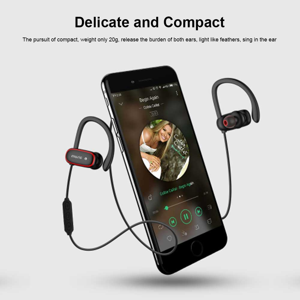 Ear-mounted Sports Headphones, Wireless Bluetooth Headsets Compatible with PC, BOOK, PAD, PHONE 2