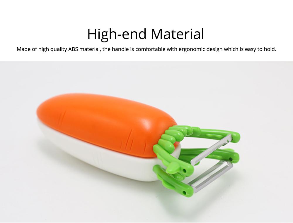 Multifunctional Turnip Peeler Fruit Potato Peeler, Stainless Steel Peeler with Beer Bottle Opener, Kitchen Cut Tools 5