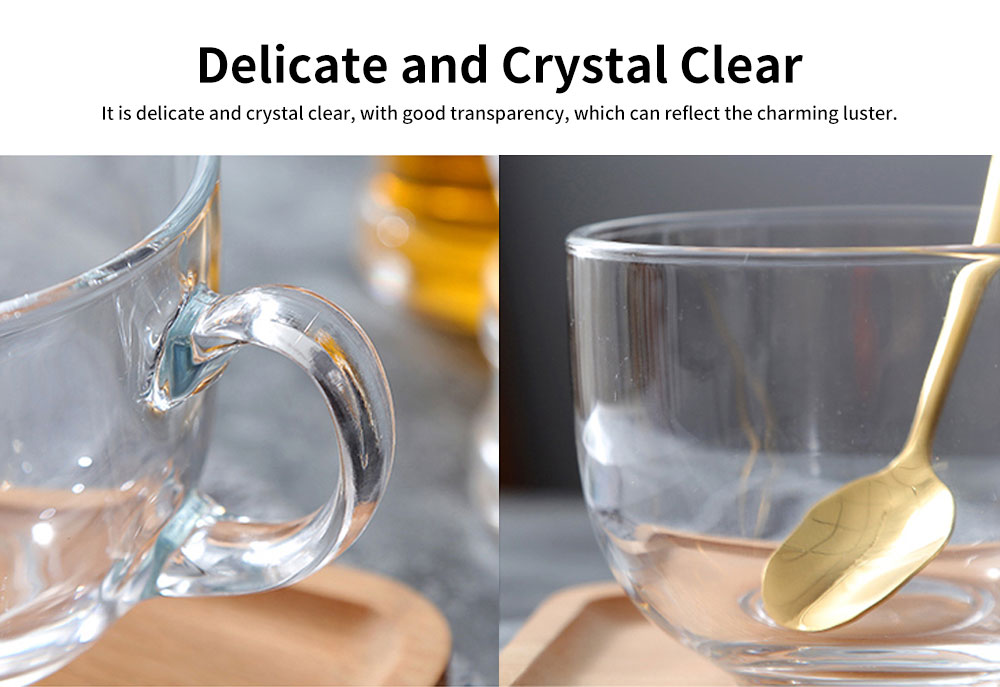 Delicate Beautiful Large Glass for Placing Milk, Cereal, Water, Creative Juice Cup with Thickening of The Bottom 2