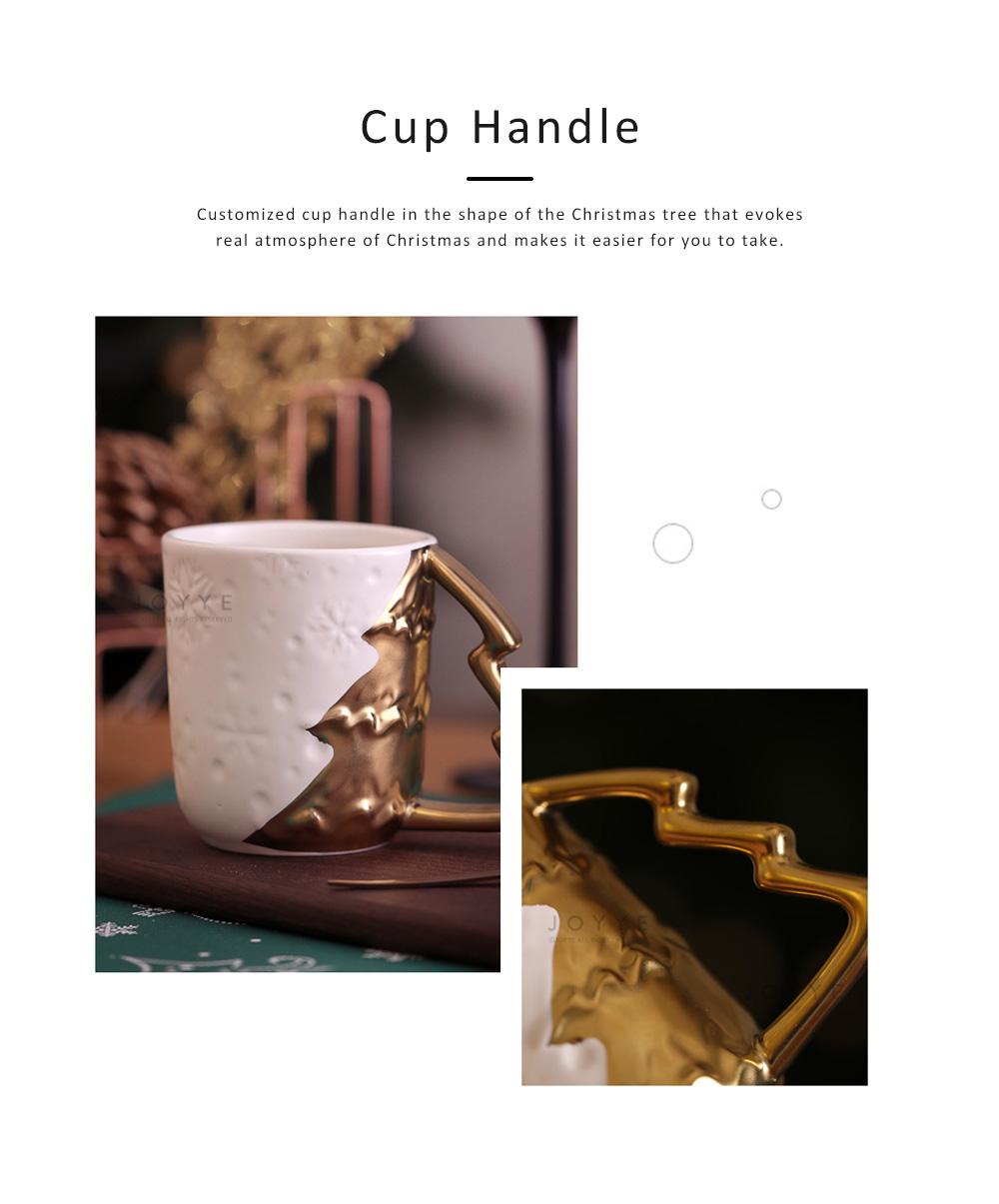Ceramic Mug Cup with Glaze for Tea, Milk, Coffee, Water, Decoration Cup for Christmas, Festivals, Cartoon Water Mug 1
