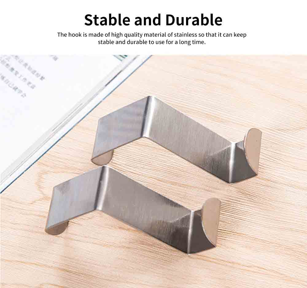 Over Door Hook Stainless Kitchen Cabinet Clothes Hanger Organizer Holder 2PCS 2
