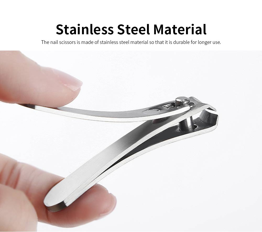 Portable Stainless Steel Nail Scissors Manicure Makeup Tool Nail Clipper Cutter 2