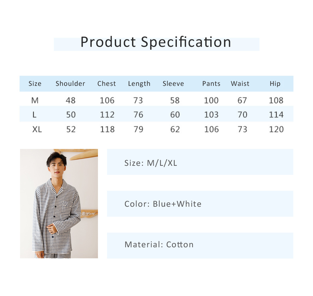 Pajamas Set for Men, Middle Age, Aged, Elderly, Long Sleeve Pajama for Autumn and Winter, 100% Cotton Homewear Set, Sleepwear Set 5