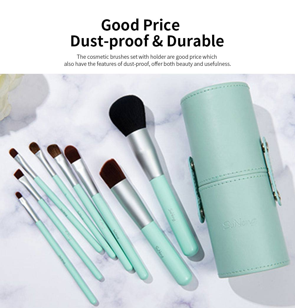 8 pcs Makeup Brushes Set with Holder, Soft Cosmetic Brush Tool for Makeup with Storage Case 5