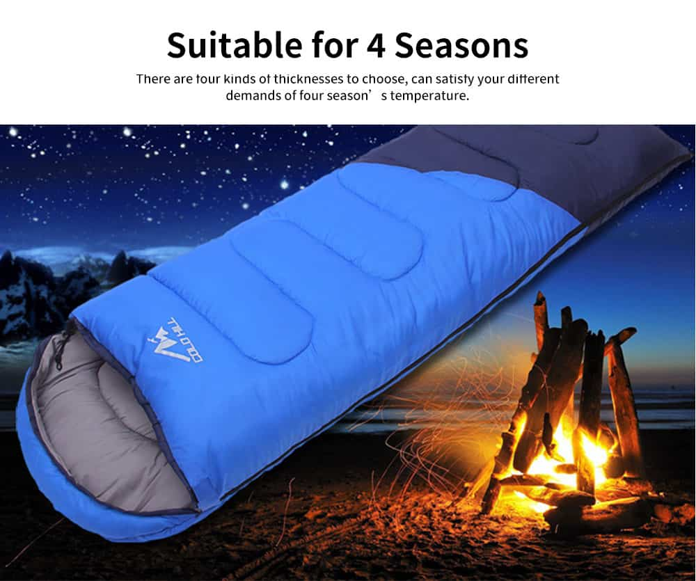 Adult Envelope Sleeping Bag for Hiking, Camping, 4 Seasons, Lightweight Warm Hollow Cotton Sleeping Bag 8