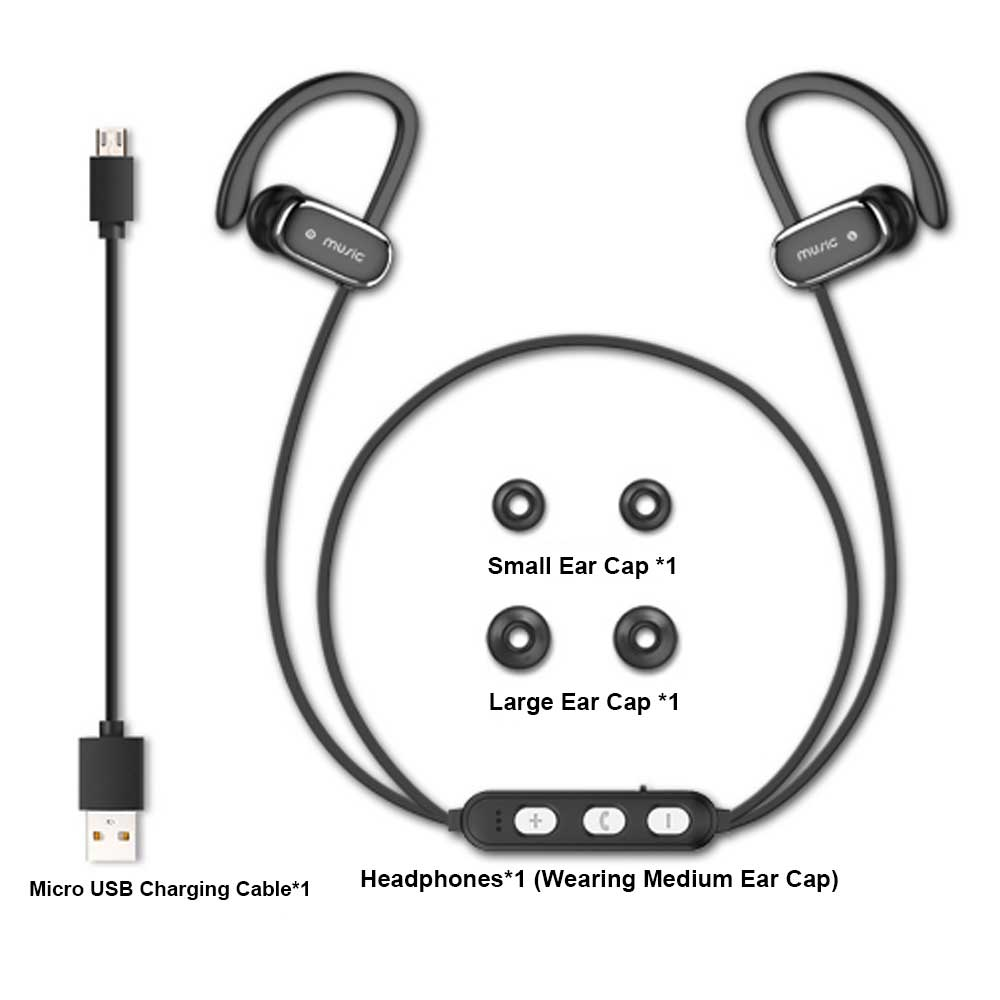 Ear-mounted Sports Headphones, Wireless Bluetooth Headsets Compatible with PC, BOOK, PAD, PHONE 9