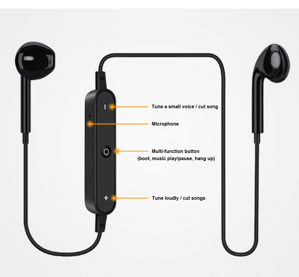 Binaural Running Universal Earphone, Wireless Hanging Neck Earphone, Charging Bluetooth Earphone 9