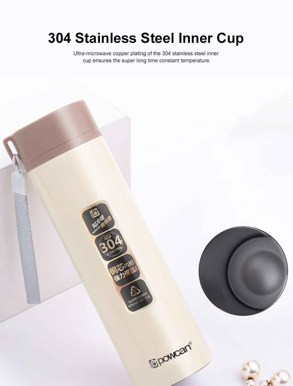 Portable Vacuum Cup for Men, Women and Children 304 Stainless Steel Cup Lovely Children's Portable Cup Vacuum Car-born Bottles 2