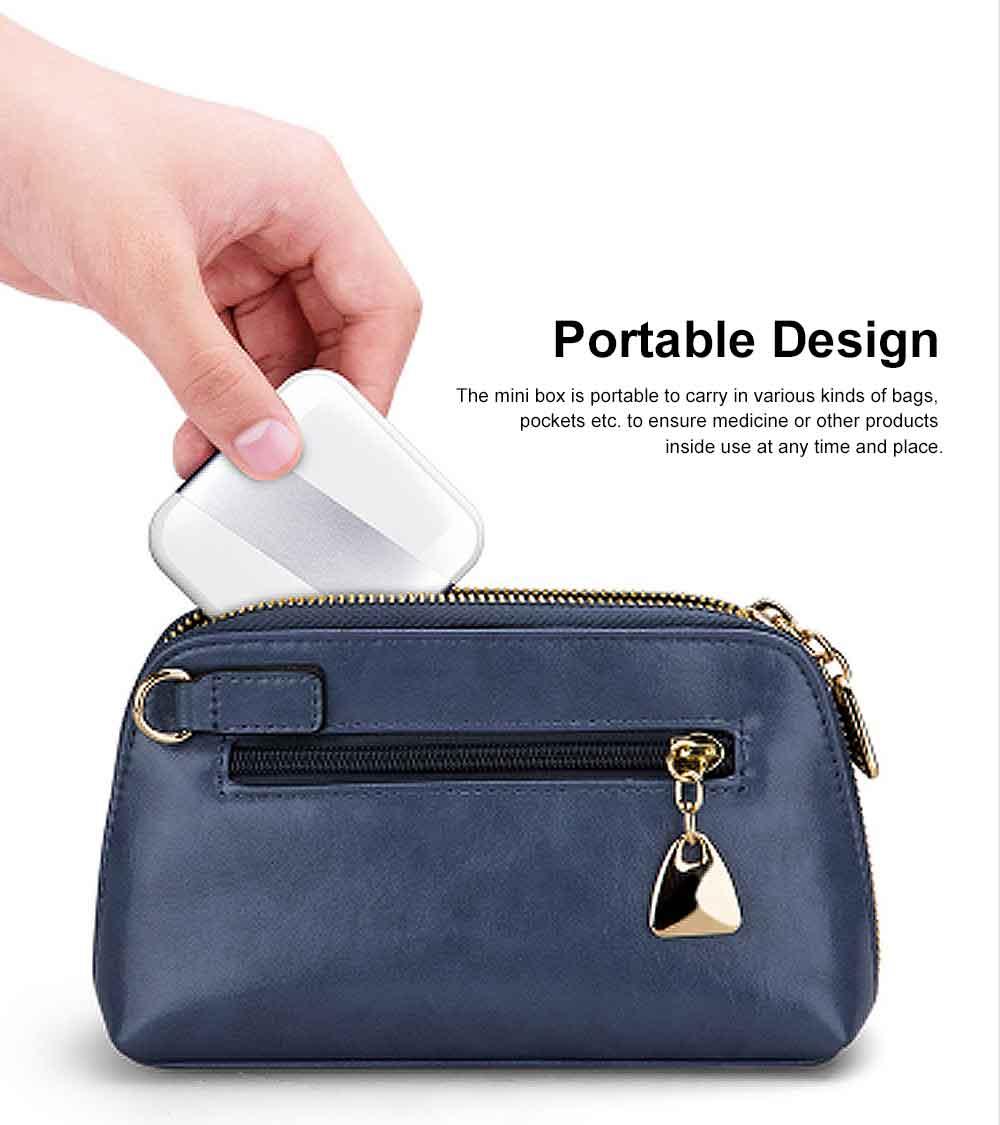 Portable Stylish Mini Medicine Box for Tablets or Pills Separation Put Sealing Anti Humidity Pill Case Shading Medicine Case 5