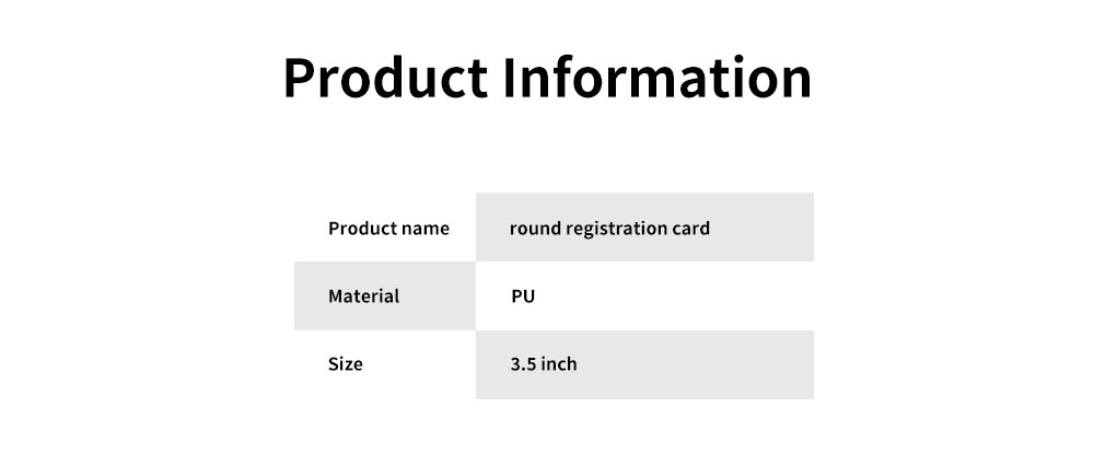 Round Luggage Registration Card, High-quality PU Baggage Shipping Card, with Beautiful Decoration 6