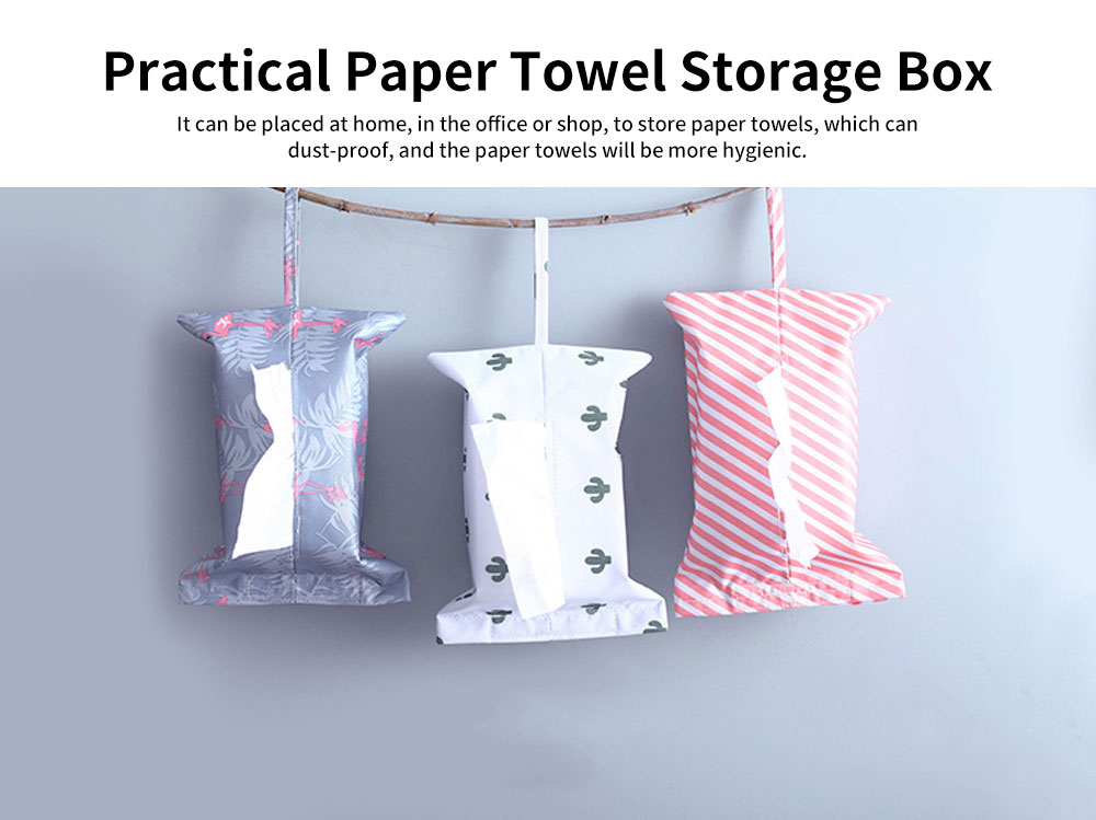New Creative Hanging Paper Storage Boxes, Waterproof Oxford Fabric Tissue Bag, Home, Office, Shop Essential 4