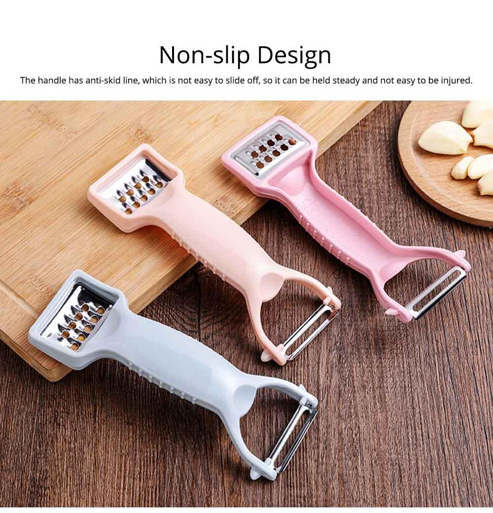 Multifunctional Stainless Steel Peeler Knife with Double-headed Fruit Peeler Design , Portable Vegetable Potato Fruit Peeler, Kitchen Cut Tools 5
