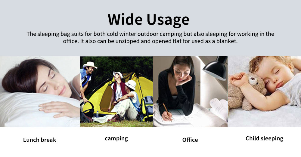 Outdoor Double Adult Sleeping Bag with Pillows, Portable Sleeping Bag Camping Hiking Essential 3