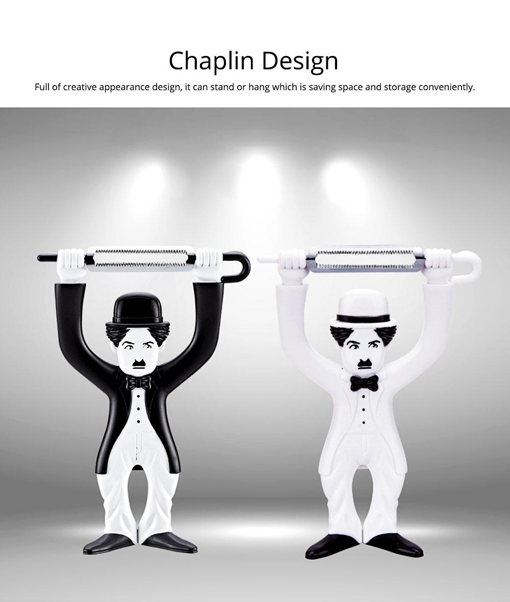 Multifunctional Peeler Knife with Chaplin Design Portable Vegetable Potato Fruit Peeler, Kitchen Cut Tools 1