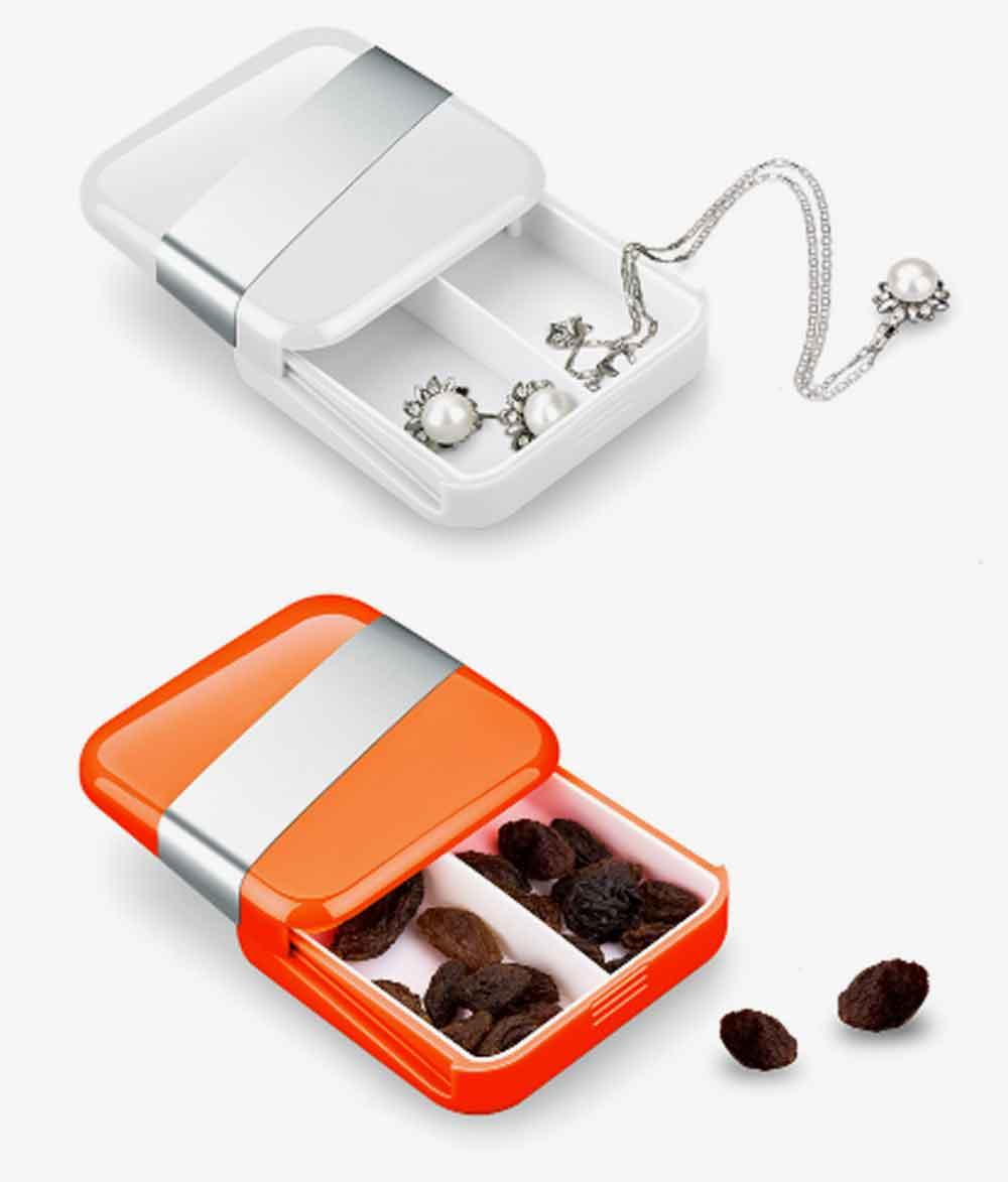 Portable Stylish Mini Medicine Box for Tablets or Pills Separation Put Sealing Anti Humidity Pill Case Shading Medicine Case 7