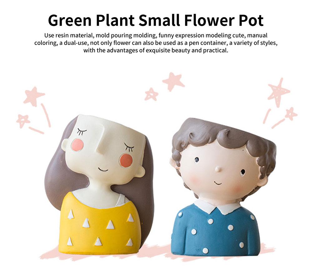 Cartoon Mini Meaty Flowerpot, Indoor Green Plant Floret Basin, Creative and Personality Flower Arrangement 0