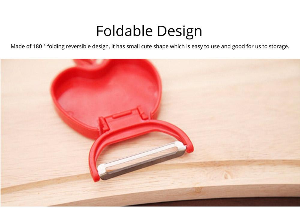 Multifunctional Foldable Peeler Knife with Apple Shape, Portable Vegetable Potato Fruit Peeler, Kitchen Cut Tools 7