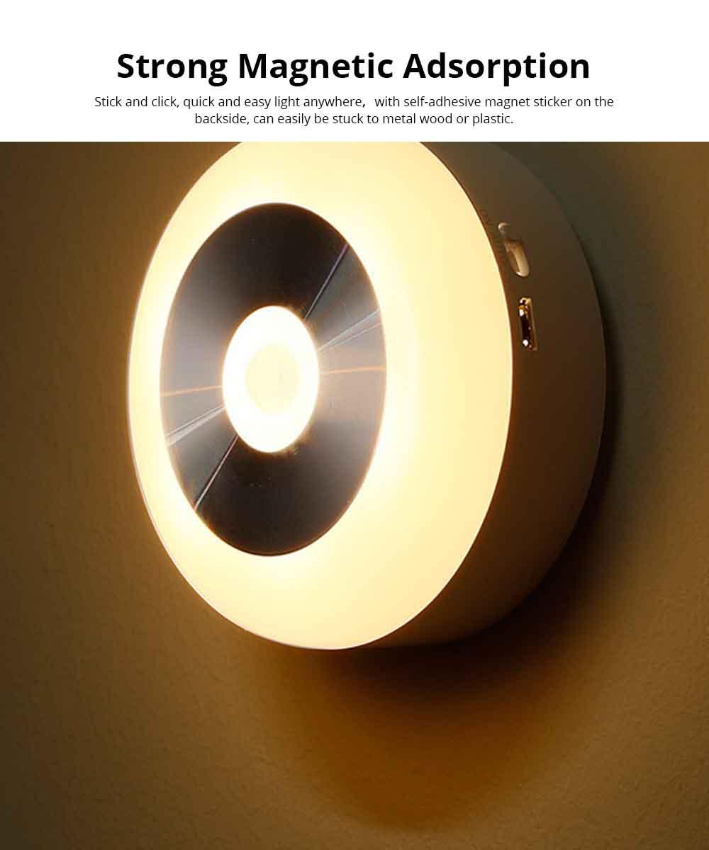 Battery-Powered LED Motion Sensor Night Light Human Induction Touch Sensor LED Cabinet Lights, Magnet Stick-on Closet Light 1