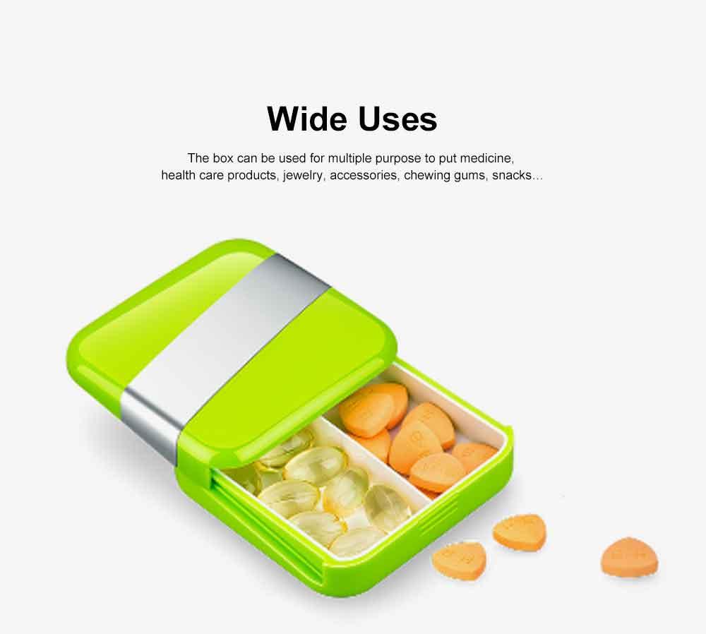 Portable Stylish Mini Medicine Box for Tablets or Pills Separation Put Sealing Anti Humidity Pill Case Shading Medicine Case 6