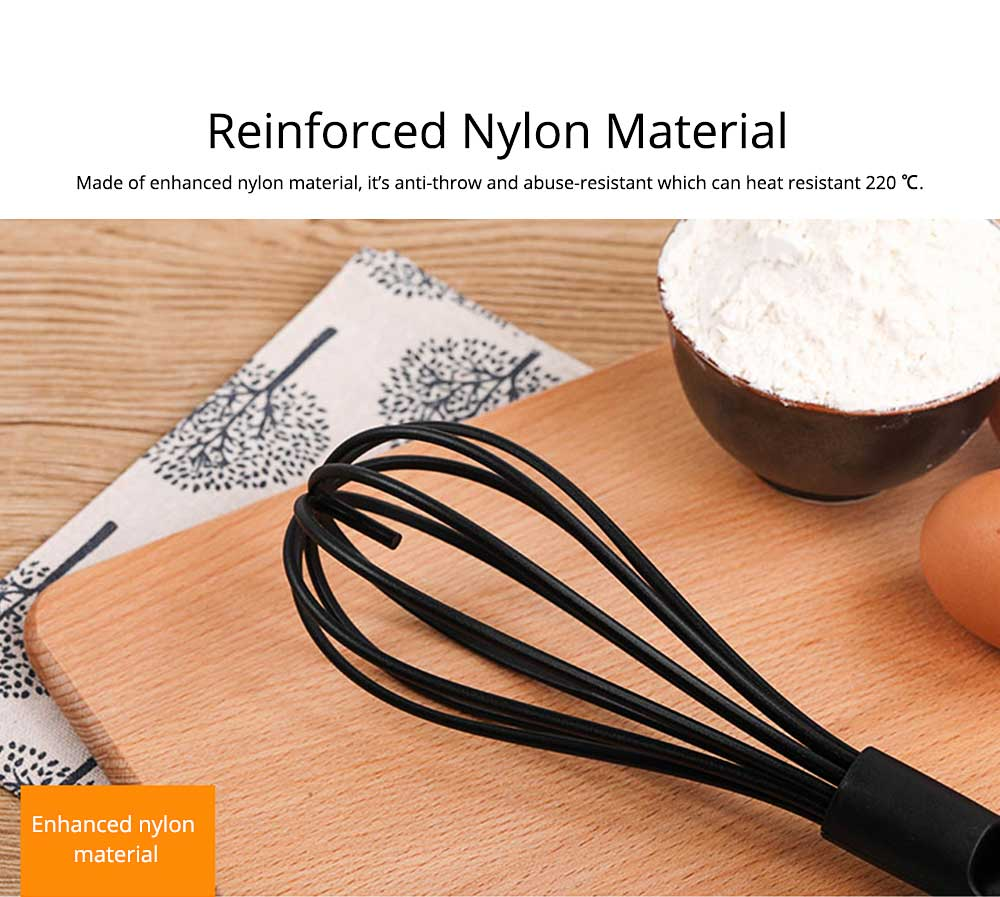 Strong Washable Nylon Hand Mixer with Intimate Support Design, Kitchen Mixer for Beating the Eggs and Stir, Baking Tools 1