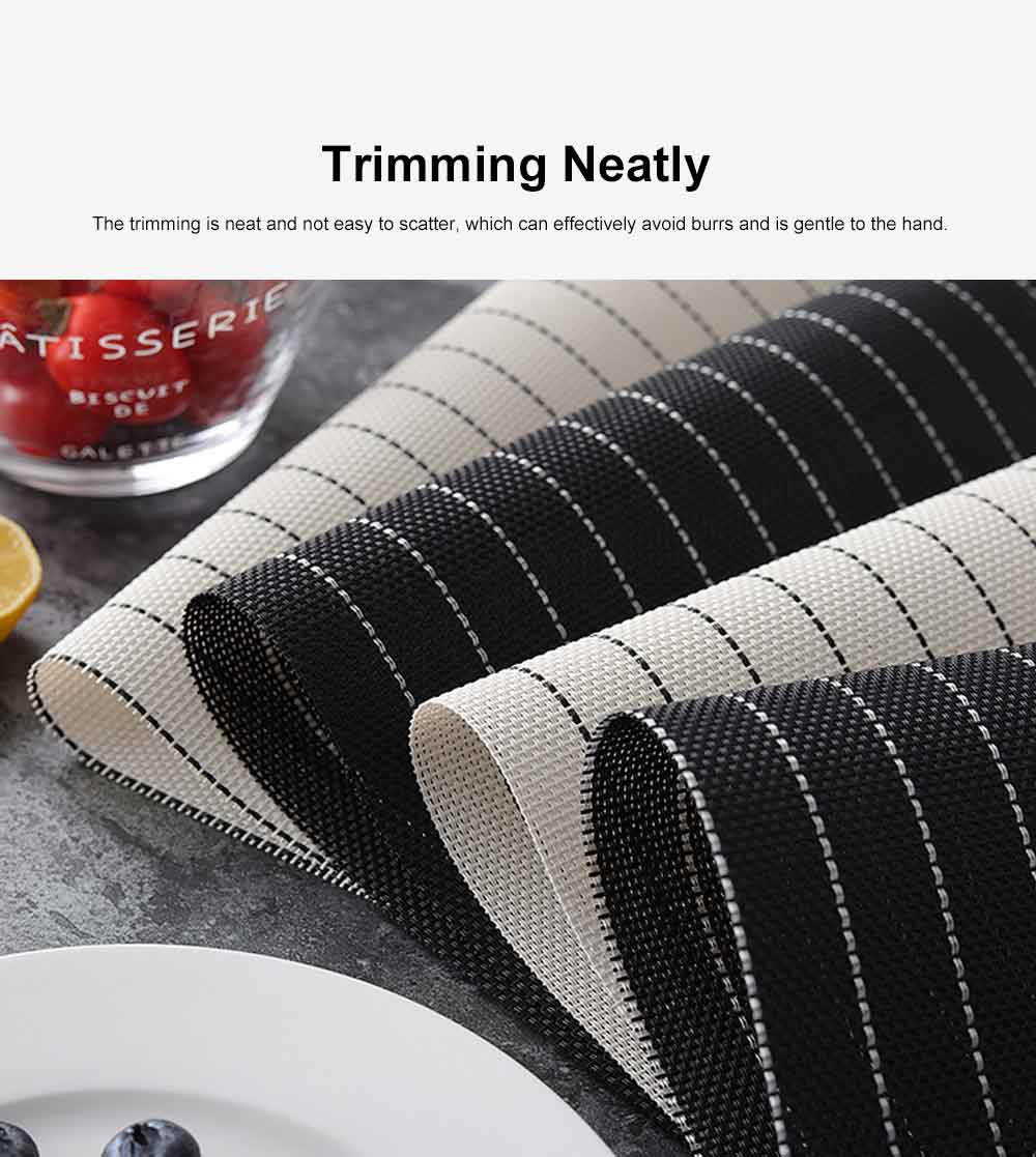 Place Mat PVC Waterproof Thicken Heat Resistant Modern Simple Table Mat European Style Heat Insulation Mat for Household 5