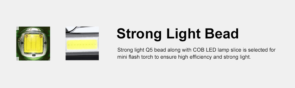 Mini Flash Torch for Outdoor Lighting LED Strong Light AA Battery Q5 Zooming Pen Clip COB Working Light Sidelight Flashlight 3