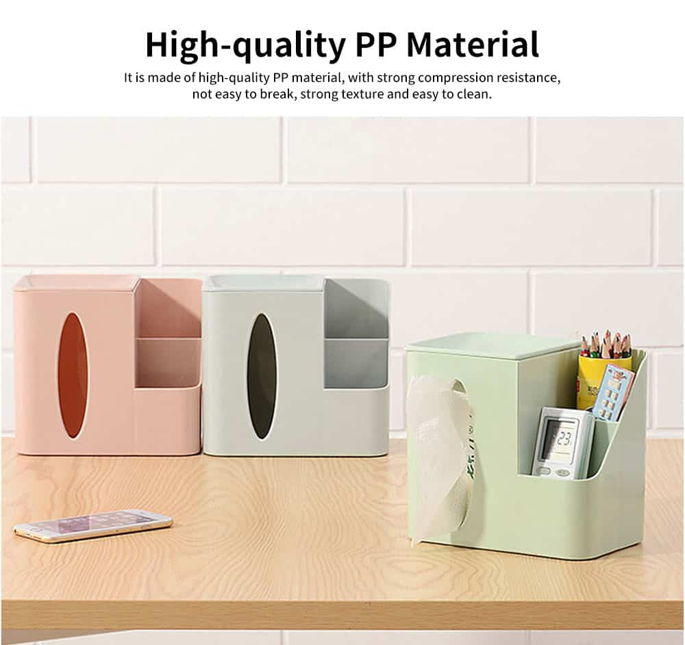 Environmental Protection Storage Tissue Box, Creative Literary Tissue Box, with Elliptical Opening Design 3