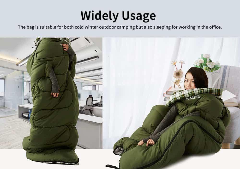 Outdoor Waterproof Sleeping Bag, Lightweight Flannel Warm Sleeping Bag for Travel 4 Seasons 3