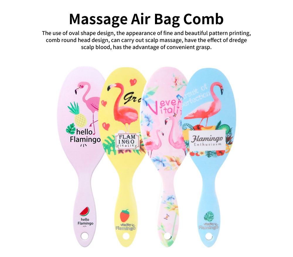 Plastic Air Cushion Hairdressing Comb, Massage Air Bag Comb, Ladies Delicate and Beautiful Comb 0